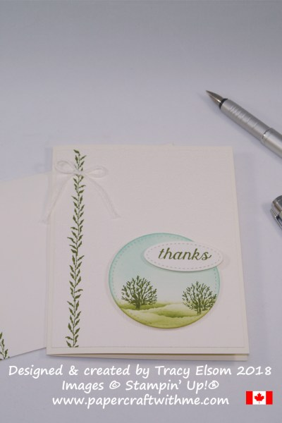 Rural scene thank you card created using the Sea of Textures Stamp Set from Stampin' Up!