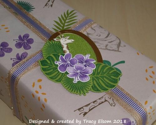 Tropical Animal Gift Wrap & Tag