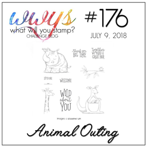 What Will You Stamp? Challenge WWYS176 Animal Outing (July 9 to 14, 2018)