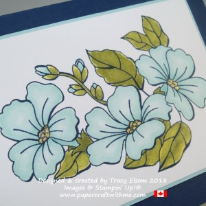 Close up of floral card created using the Blended Seasons Stamp Set and Stampin' Blends alcohol markers from Stampin' Up!