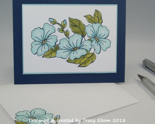 1535 Morning Glory Card