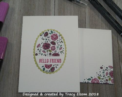1545 Hello Friend Card