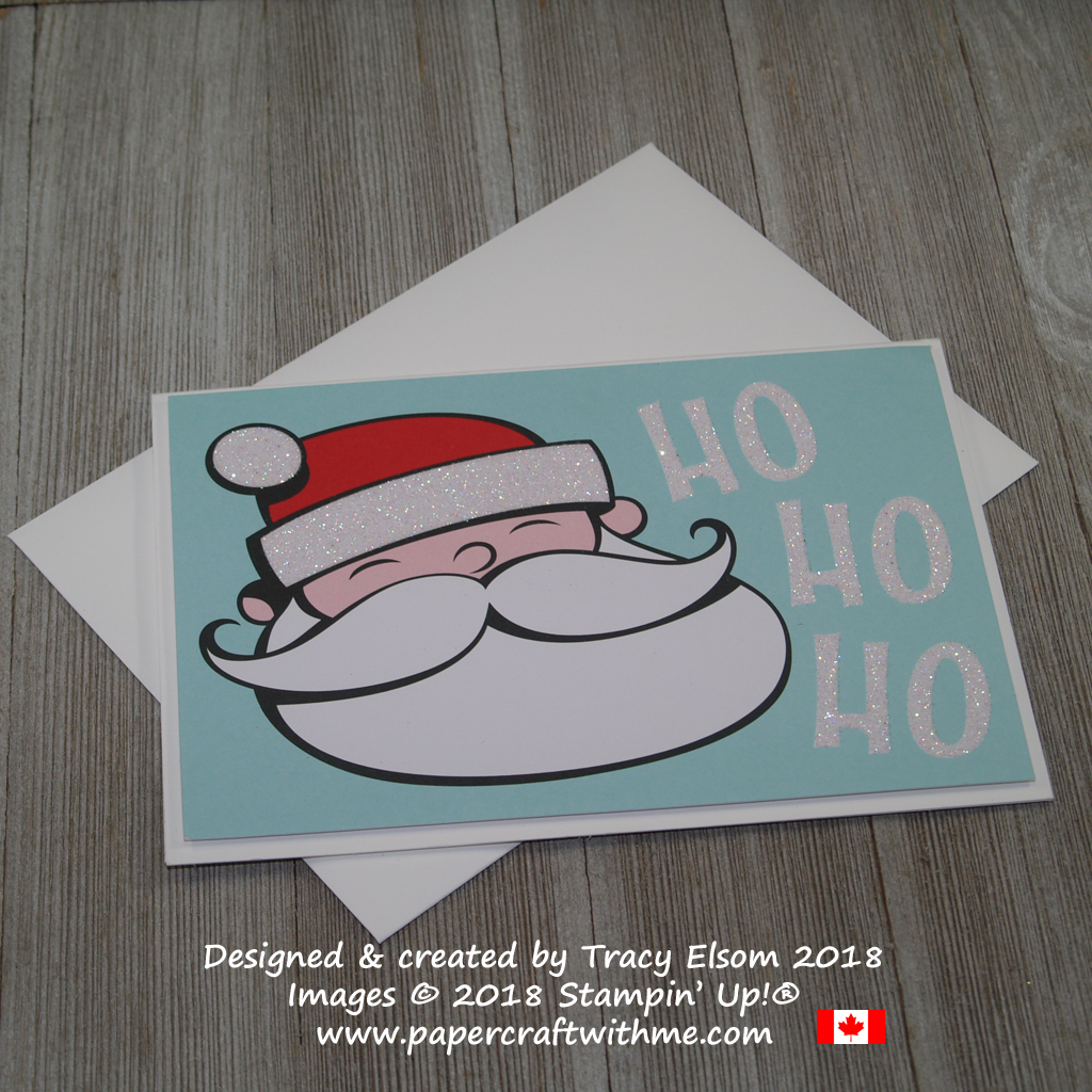 Simple Santa Christmas card created using the Santa's Workshop memories & More Card Pack from Stampin' Up!