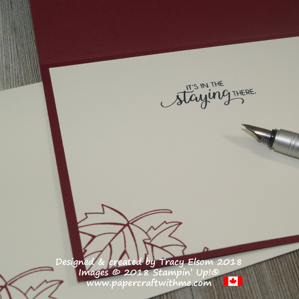 nside of masculine anniversary card created using the Blended Seasons and Beautiful Bouquet Stamp Sets from Stampin' Up!