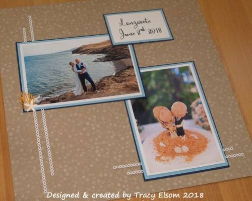 Beach wedding scrapbook page