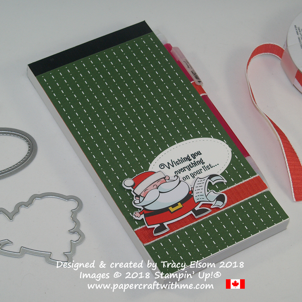 Santa's To Do List featuring products from the Santa's Workshop Suite from Stampin' Up!