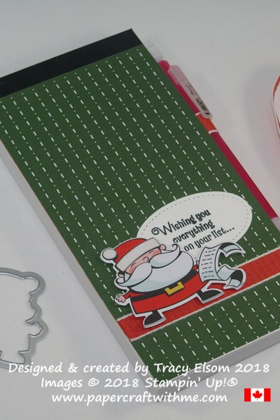 Santa's 'To Do' List featuring products from the Santa's Workshop Suite from Stampin' Up!