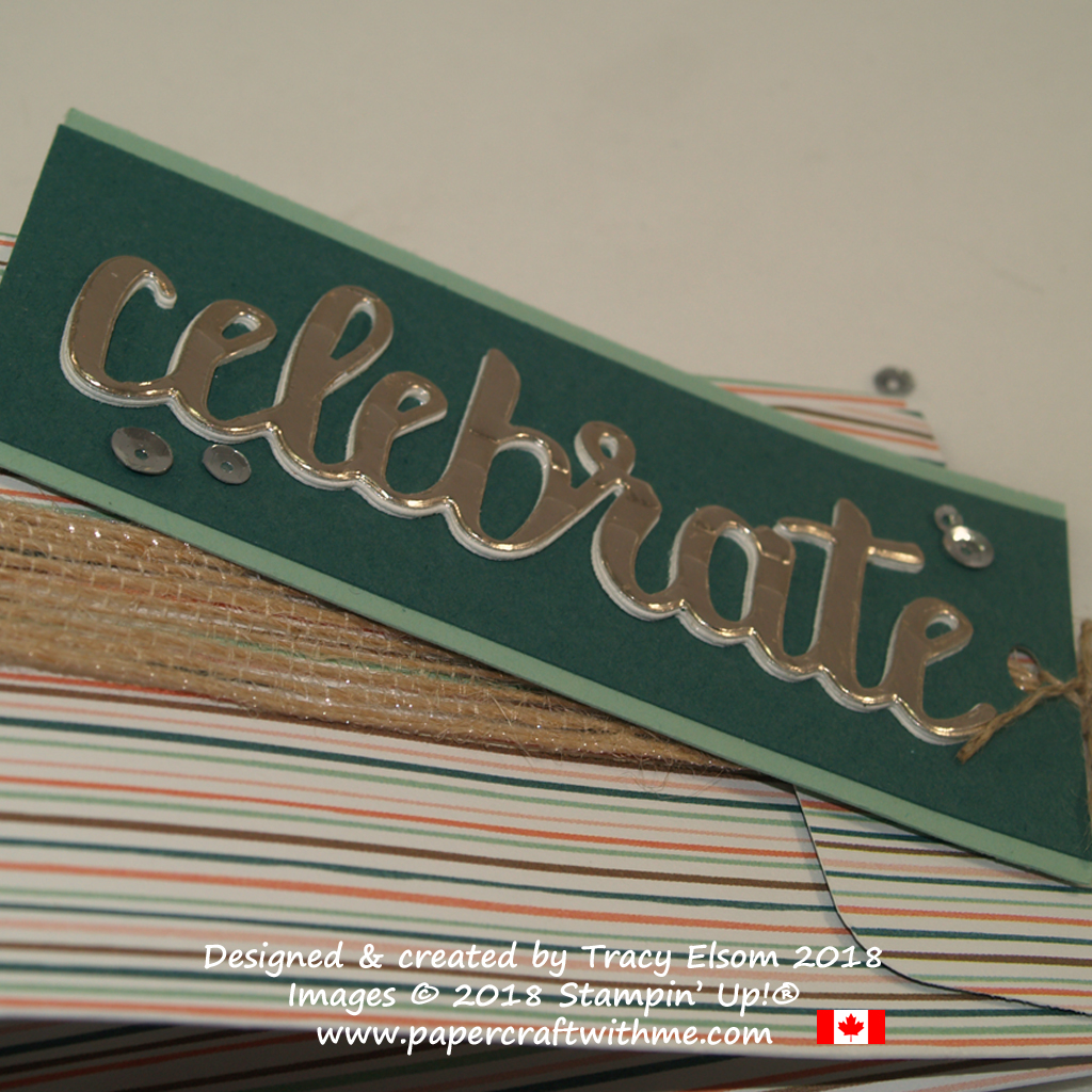 Stacked die-cut sentiment using the Celebrate You Framelits Dies from Stampin' Up!