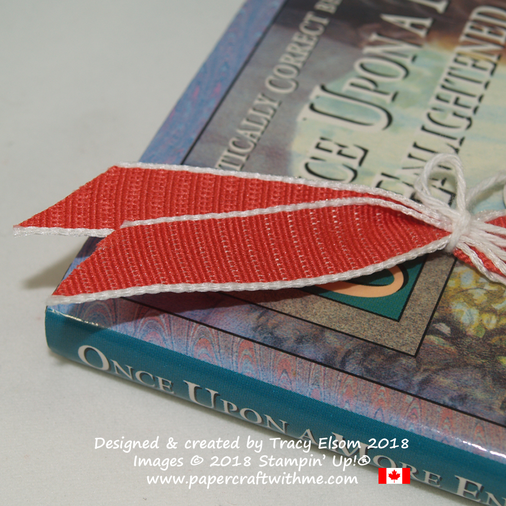 "Close up of the Poppy Parade 1/2"" Textured Weave Ribbon from Stampin' Up!"