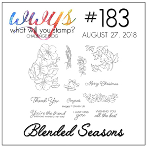 What Will You Stamp? challenge logo #WWYS183 Blended Seasons (August 27-September 1, 2018)