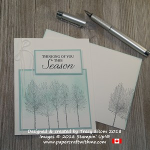 Simple sponged thinking of you this season card created using the Winter Woods Stamp Set from Stampin' Up!