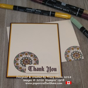 Thank you card with roundel and sentiment from the Painted Glass Stamp Set from Stampin' Up!