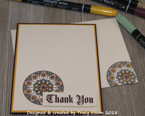 1586 Thank You Roundel Card