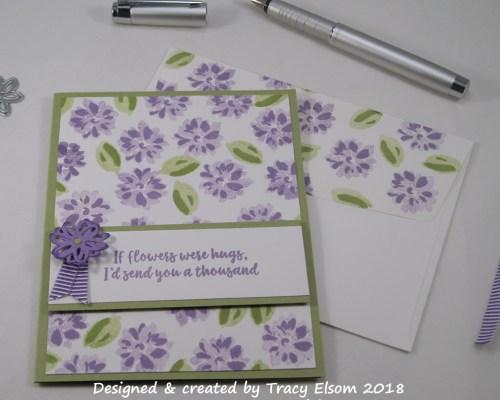 1593 If Flowers Were Hugs Card