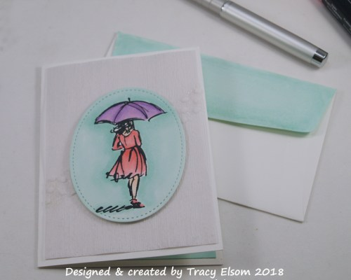 1603 Rainy Day Note Card