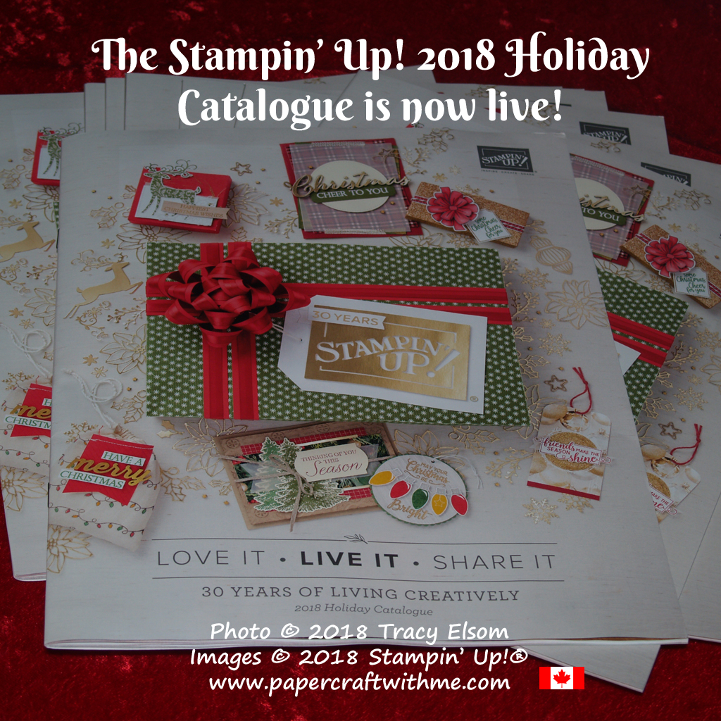 Cover of the Stampin' Up! 2018 Holiday Catalogue