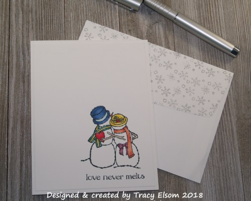 1555 Snow Couple Card