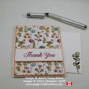 Simple thank you card created as part of my WCMD 2018 Personal Challenge to design and create 24 different cards in 24 hours