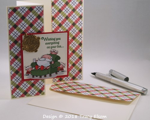 1614 Santa's Seal Z-fold Card