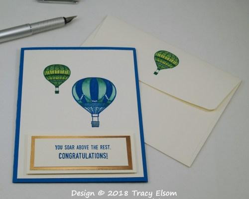 1615 Hot Air Balloons Congratulations Card