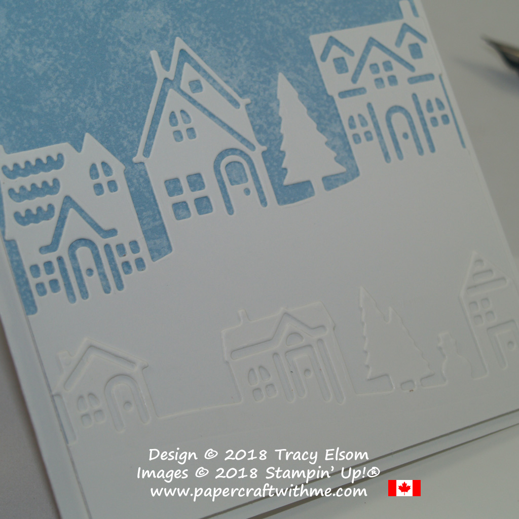 Close Up of silhouette houses created using the Hometown Greetings Edgelits Dies from Stampin' Up!