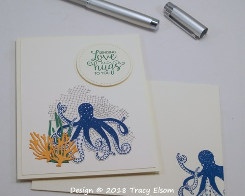1633 Octopus Love and Hugs Card