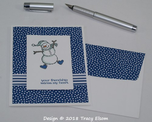 1634 Heartwarming Snowman Card