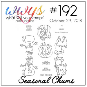 What Will You Stamp? Challenge logo WWYS192 Seasonal Chums (October 29 to November 3, 2018)