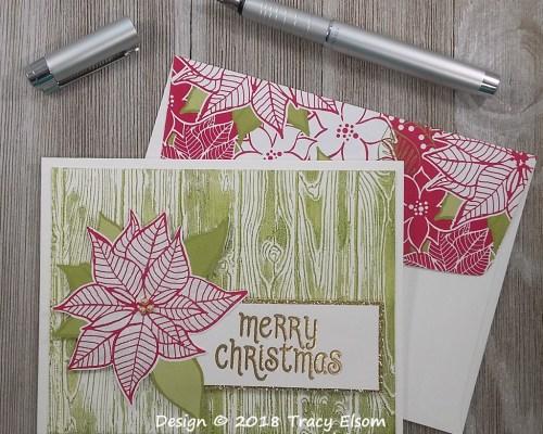 1650 Christmas Poinsettia Card