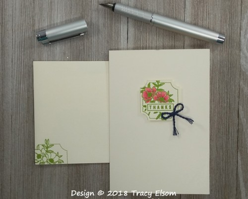 1651 Darling Thanks Note Card