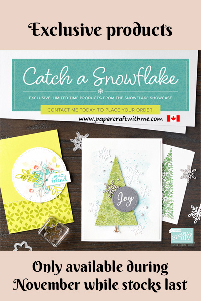 Snowflake Showcase suite of products from Stampin' Up! are only available during November 2018 while stocks last.