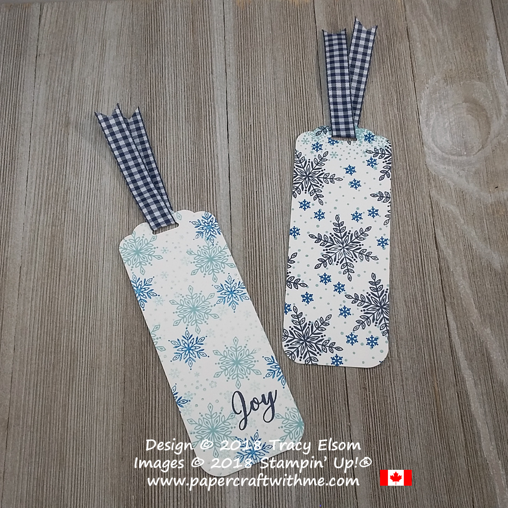 Two bookmarks created with simple stamping using the Snow Is Glistening Stamp Set from Stampin`Up!