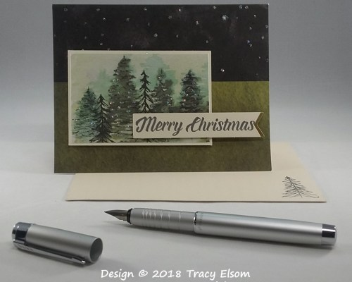 1570 Sparkling Trees Card