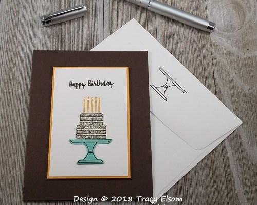 1660 Chocolate Cake Birthday Card