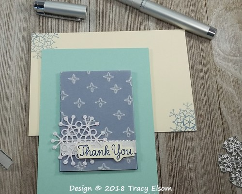 1666 Winter Thank You Card