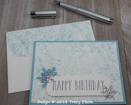 1667 Winter Birthday Card