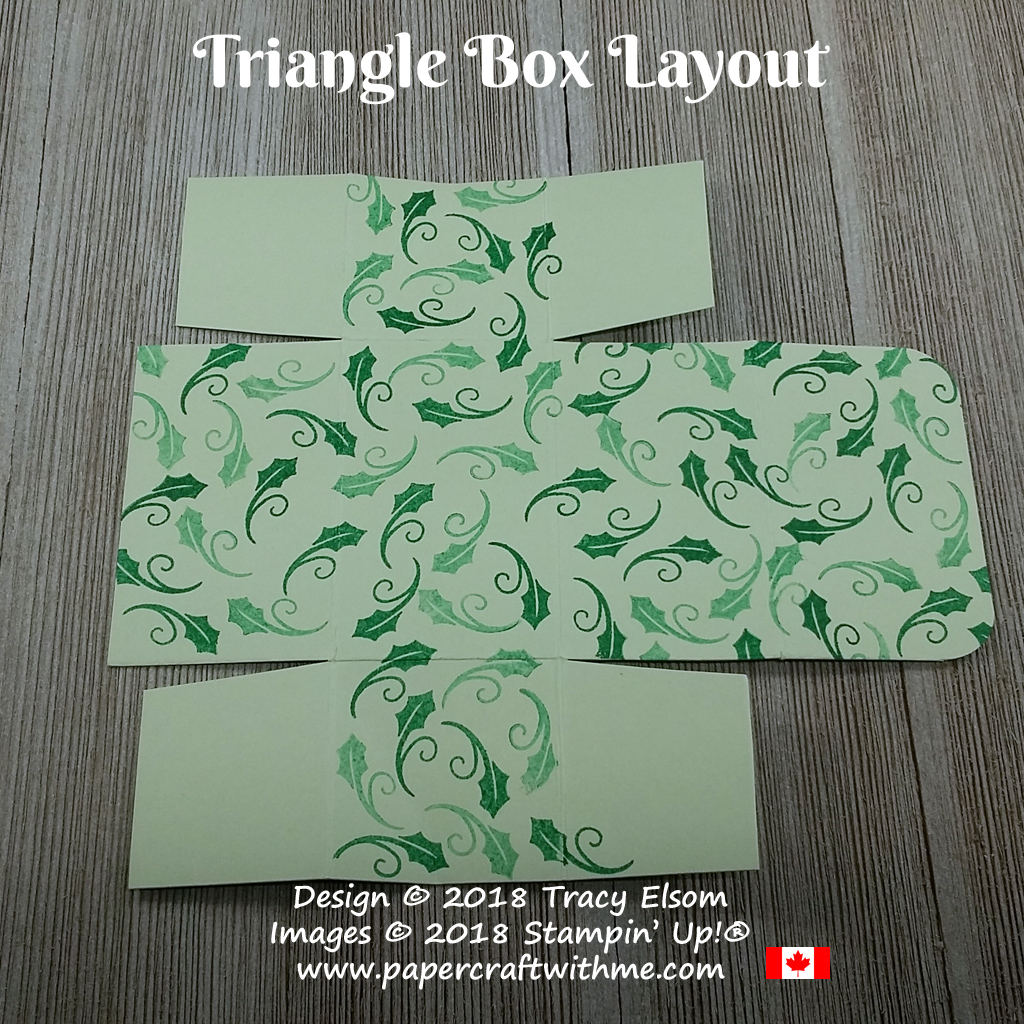 Layout for a triangle favor box