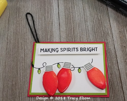 Christmas Lights Gift Tag