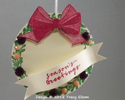 Layered Wreath Tag