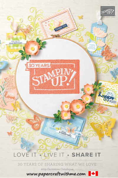 Stampin' Up! 2019 Occasions Catalogue from January 3 to June 3, 2019.