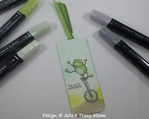 BM207 Frog On A Unicycle Bookmark
