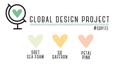 Global Design Project challenge logo GDP173 - Soft Sea Foam, So Saffron and Petal Pink (21-28 January, 2019)