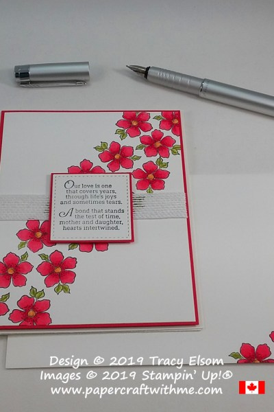 Mother daughter card created using the Tea Together Stamp Set and two types of marker from Stampin' Up!