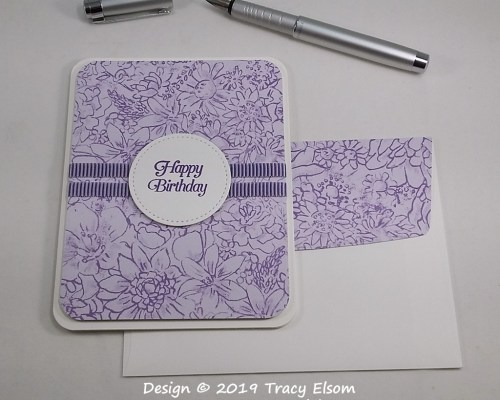 1722 Lilac Birthday Card
