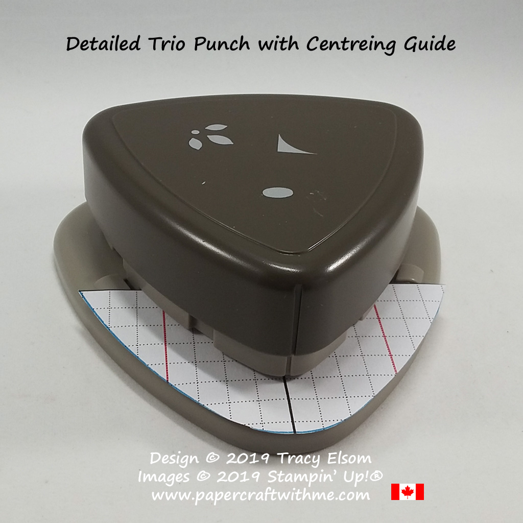 Detailed Trio Punch with handmade centreing guide