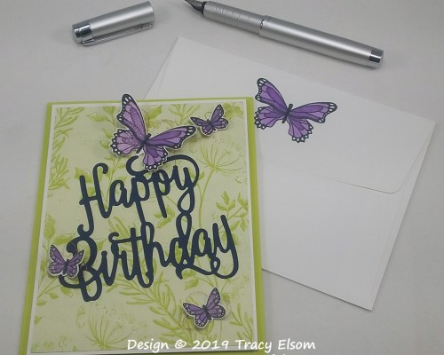 1738 Butterfly Birthday Card