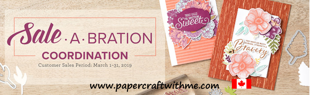 New products available to coordinate with free Sale-A-Bration items from Stampin' Up! (While stocks last - promotion ends March 31st)