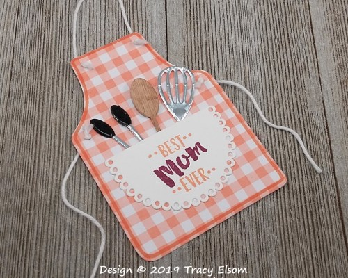 Gingham Apron Gift Tag
