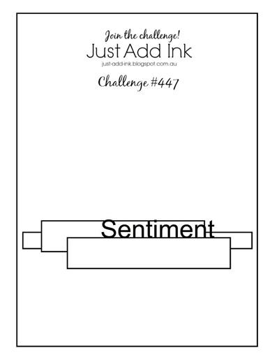Logo for Just Add Ink Challenge #JAI447 (Mar 8 -13, 2019)