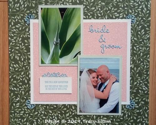 Bride & Groom Scrapbook Page